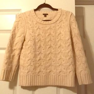 Ann Taylor Sweaters - Ann Taylor cream sweater with pearl detailing